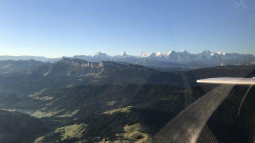 Rückflug aus den Alpen